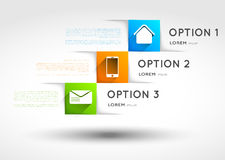 Infographic template, option squares banners with  Royalty Free Stock Photo