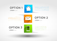 Infographic template, option squares with icons Royalty Free Stock Photography