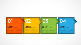 Infographic template option squares Royalty Free Stock Images