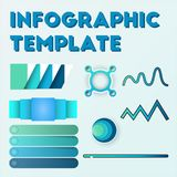 Infographic template pack set for business presentations. Infographic template element pack set for any presentations or business needs Stock Image