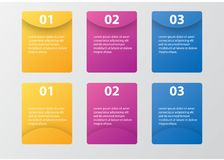 Infographic template pack set for business presentations. Infographic template element pack set for any presentations or business needs Stock Photography