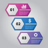 Infographic template pack set for business presentations. Infographic template element pack set for any presentations or business needs Royalty Free Stock Images