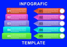 Infographic template with paper label, integrated circles. Business concept with options. For content, diagram, flowchart, steps, parts, timeline infographics royalty free illustration