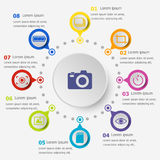 Infographic template with photography icons Royalty Free Stock Photography