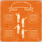 Infographic template with Pointing hands and text Stock Photo