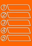 Infographic template for presentation of five options or steps with blank frames for own message in monoline design Stock Image