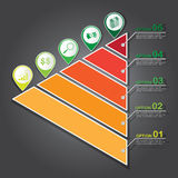 Infographic Template for Presentation, Vector Work Stock Image