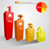 Infographic Template Progress Bar Royalty Free Stock Photos