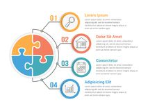 Infographic Template with Puzzle Circles Royalty Free Stock Photography