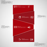 Infographic template with red bar randomly divided to fou parts Royalty Free Stock Photo