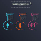 Infographic template, relationship Royalty Free Stock Photo
