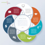 Infographic template with seven segments Royalty Free Stock Images