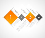 Infographic template squares Royalty Free Stock Photos