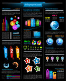 Infographic template for statistic data visualizat Stock Photography