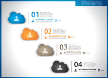 Infographic template for statistic data visualization. Modern composition to use like infoc Stock Image