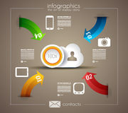 Infographic template for statistic data visualizat Stock Photo