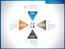 Infographic template for statistic data visualizat Stock Image