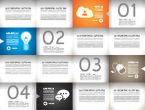 Infographic template for statistic data visualization Royalty Free Stock Images