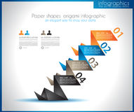 Infographic template for statistic data visualization Stock Photo