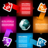 Infographic template for statistic data visualizat Royalty Free Stock Images