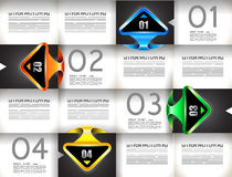 Infographic template for statistic data visualization Stock Images