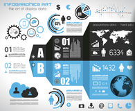 Infographic template for statistic data visualization. Royalty Free Stock Image