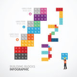 Infographic Template step building blocks banner . concept vecto Stock Photography