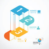Infographic Template step jigsaw banner . Royalty Free Stock Photos
