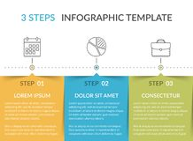 Infographic Template with 3 Steps vector illustration