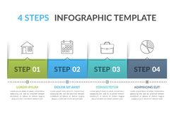 Infographic Template with 4 Steps royalty free illustration