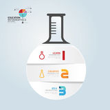 Infographic Template with Test-Tube paper cut banner . concept v Stock Photo