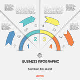 Infographic  template with text areas on four positions Stock Image