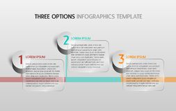 Infographic template with three options or steps for your presen. Tation/brochure - layout stock illustration