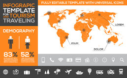 Infographic template for tourism, traveling and holiday transport Stock Photography