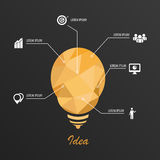 Infographic Template Triangle Light. Vector. Illustration Royalty Free Stock Photo