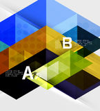 Infographic template - triangle tiles background Royalty Free Stock Images