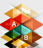 Infographic template - triangle tiles background. Vector template background for workflow layout, diagram, number options or web design Stock Illustration
