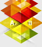 Infographic template - triangle tiles background. Vector template background for workflow layout, diagram, number options or web design Royalty Free Illustration
