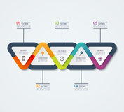 Infographic template of triangular elements Stock Photography