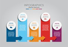 Infographic template. Vector illustration. Can be used for workflow layout, diagram, business step options, banner. Infographic template. Vector illustration stock illustration