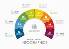 Infographic template. Vector illustration. Can be used for workflow layout, diagram, business step options, banner. Royalty Free Stock Photos