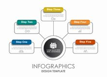 Infographic template. Can be used for workflow layout, diagram  Royalty Free Stock Photo