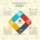 Infographic template. Can be used for workflow layout, diagram, business step options, banner, web design. Royalty Free Stock Images