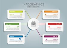 Infographic template. Vector illustration. Royalty Free Stock Images