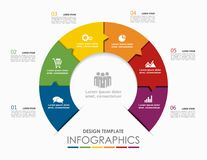 Infographic template. Vector illustration. Can be used for workflow layout, diagram, business step options, banner. Royalty Free Stock Photo