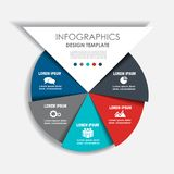 Infographic template. Vector illustration. Can be used for workflow layout, diagram, business step options, banner. Infographic template. Vector illustration Royalty Free Stock Images