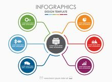 Infographic template. Vector illustration. Can be used for workflow layout, diagram, business step options, banner. Infographic template. Vector illustration royalty free illustration