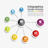 Infographic template. Vector illustration. Can be used for workflow layout, diagram, business step options, banner, web Stock Photography