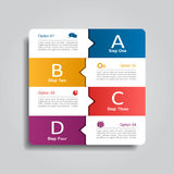 Infographic template. Vector illustration. Can be used for workflow layout, diagram, business step options, banner, web. Infographic template. Can be used for Royalty Free Stock Photo