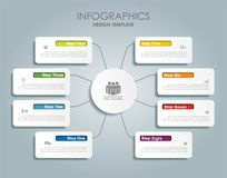 Infographic template. Vector illustration. Royalty Free Stock Photography